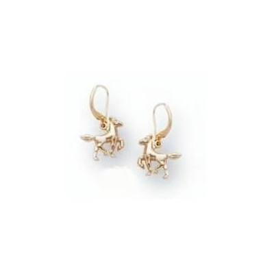 Horse 14K Gold Wire Earrings | Nature Jewelry