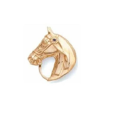 Horse Head 14K Gold Pin | Nature Jewelry