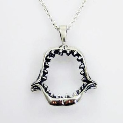 Shark Jaws Sterling Silver Necklace | Nature Jewelry