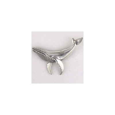 Humpback Whale Sterling Silver Pin | Nature Jewelry