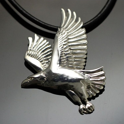 Eagle Sterling Silver Pendant Necklace | Nature Jewelry