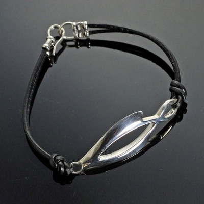 Open Fish Sterling Silver Bracelet | Nature Jewelry