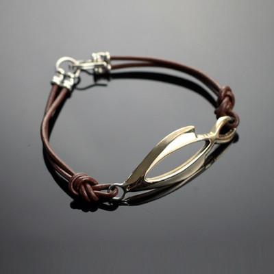 Open Fish Bronze Bracelet | Nature Jewelry