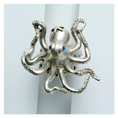By the Sea Octopus Ring | Nature Jewelry