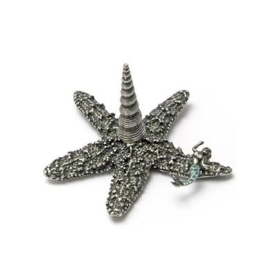 Starfish with Mermaid Ring Stand | Nature Jewelry