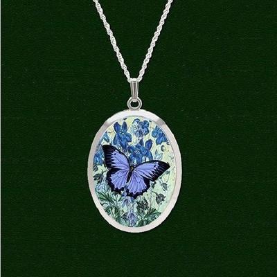 Blue Butterfly Pro Arte Pendant Necklace | Nature Jewelry