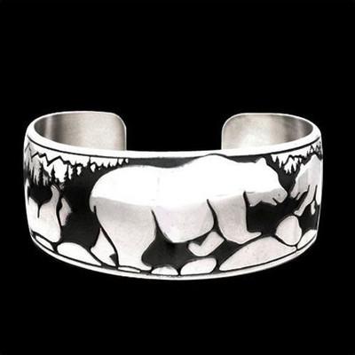 Happy Bear Sterling Silver Bracelet   Nature Jewelry