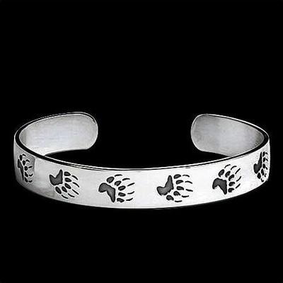 Bear Trax Sterling Silver Bracelet   Nature Jewelry