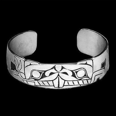 Beaver Tribal Sterling Silver Cuff Bracelet |  Metal Arts Group Jewelry | MAG10749