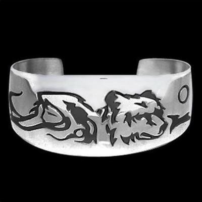 "Bear Sterling Silver Bracelet ""Maiden Clan""   Nature Jewelry"