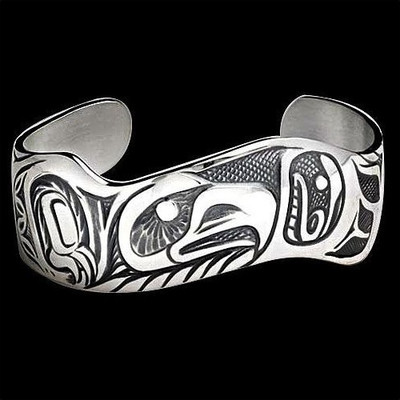 Eagle Pride Sterling Silver Cuff Bracelet | Nature Jewelry