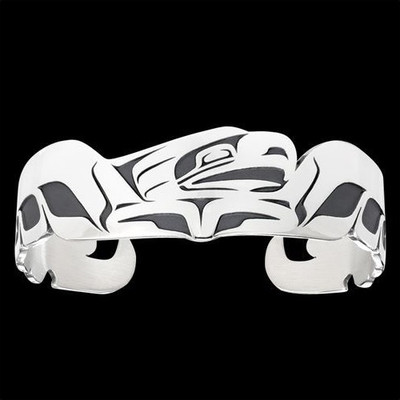 Eagle Spread Tribal Cuff Bracelet Silver | Nature Jewelry