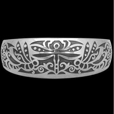 Dragonfly Sterling Silver Cuff Bracelet | Nature Jewelry