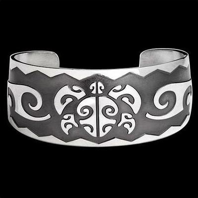 Turtle Cuff Bracelet Honu Head | Michael Glass | Nature Jewelry