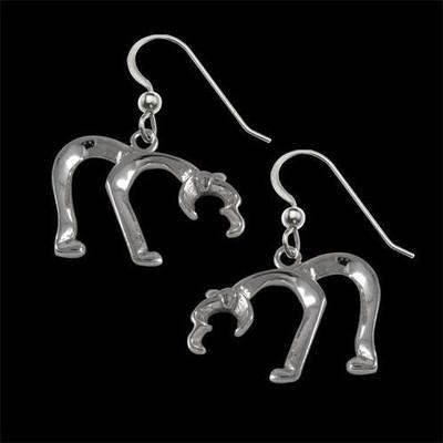 Bear Silver Earrings   Nature Jewelry