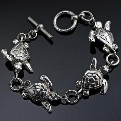 Baby Loggerhead Turtle Sterling Silver Bracelet | Nature Jewelry