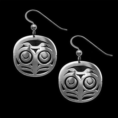 Owl Sterling Silver Earrings | Nature Jewelry