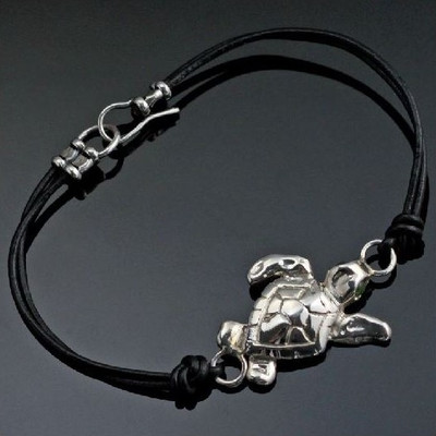 Loggerhead Sea Turtle Sterling Silver Bracelet | Nature Jewelry