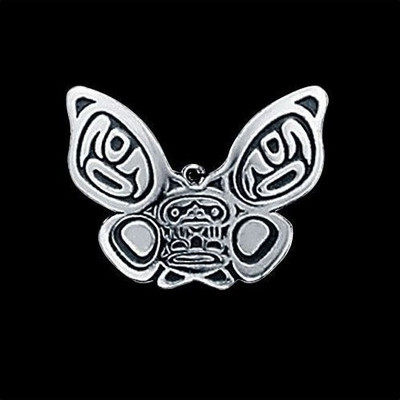 Butterfly Tribal Sterling Pendant Necklace | Nature Jewelry