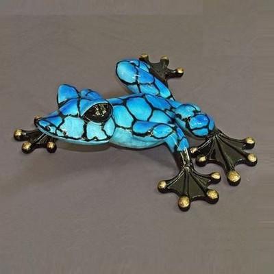 """Frog Bronze """"Alysa 36"""" Sculpture"""