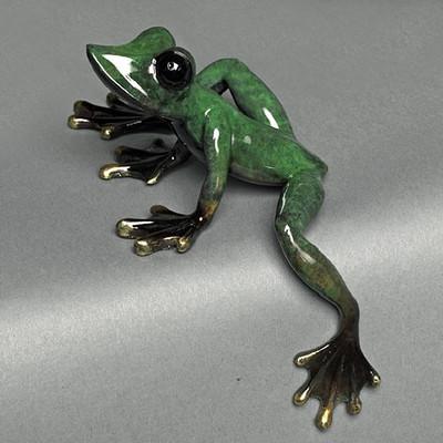 """Frog Bronze Sculpture """"Elexess"""""""
