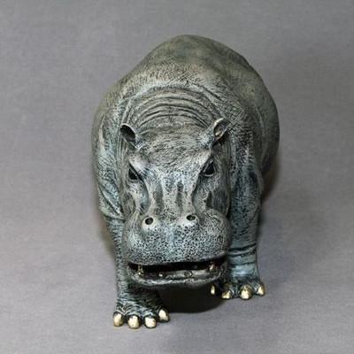 Hippopotamus Bronze Sculpture