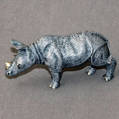 Rhino Baby Bronze Sculpture