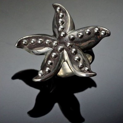 Starfish Sterling Silver Ring | Nature Jewelry