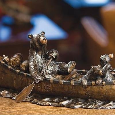 """Bear Sculpture """"Canoe Trip"""""""
