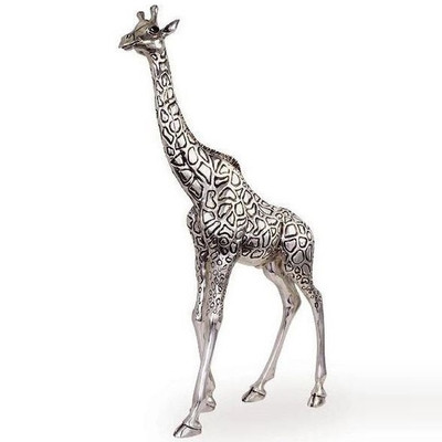 Giraffe Silver Plated Tall Ltd Ed Sculpture | 7507