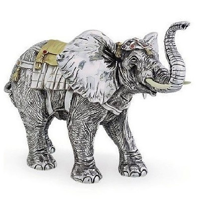 Elephant Limited Edition Silver Plated Sculpture   7511