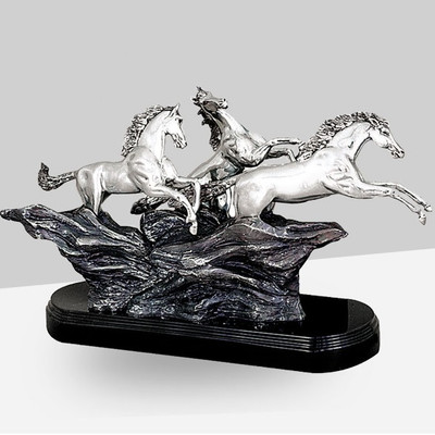 Wild Horses Silver Plated Sculpture | 8020