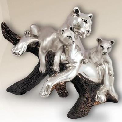 Puma Silver Plated Sculpture | 8039