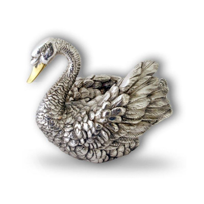 Swan Silver Plated Sculpture | A2