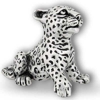 Leopard Cub Silver Plated Sculpture | A69