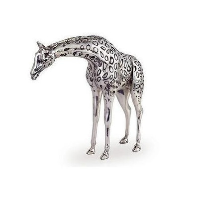 Giraffe Silver Plated Sculpture | A70