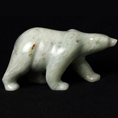 Polar Bear Stone Sculpture