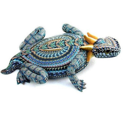 Horned Toad Mama Figurine