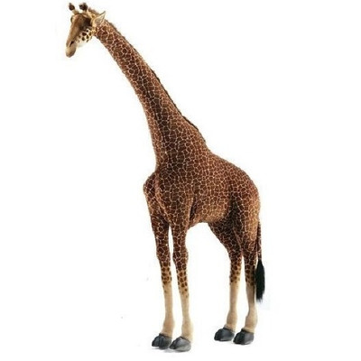 Giraffe Ride-On Plush Animal Statue
