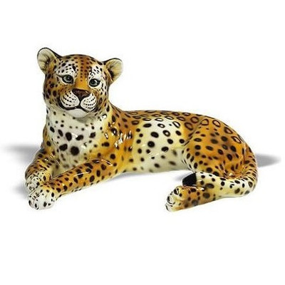 Leopard Safari Ceramic Sculpture