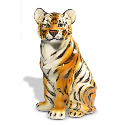 Tiger Safari Ceramic Sculpture