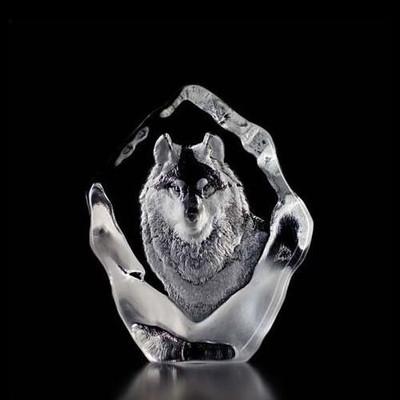Wolf Crystal Sculpture | 33547