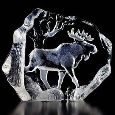 Bull Moose Crystal Sculpture   33566