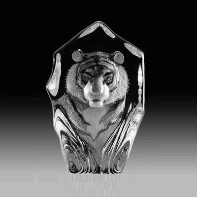 Tiger Face Crystal Sculpture | 33686
