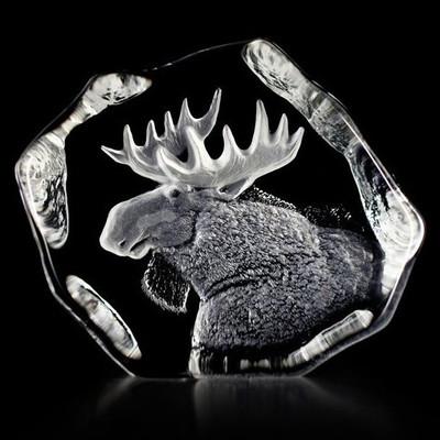 Moose Head Crystal Sculpture   33750
