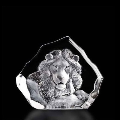 Lion Head Crystal Sculpture | 33781