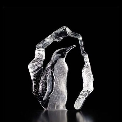 Penguin Crystal Art Glass Sculpture | 33845