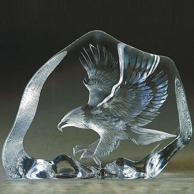 Eagle in Flight Crystal Sculpture | 33894