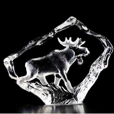 Moose Bull Mini Crystal Sculpture   88130
