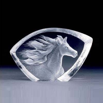 Mini Horse Crystal Sculpture | 88146 | Mats Jonasson Maleras